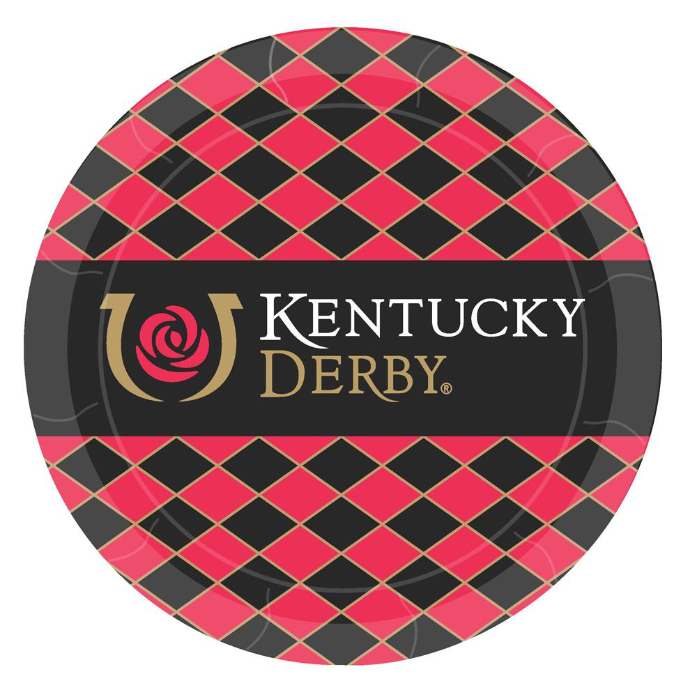 "Kentucky Derby Iconic Party Paper Plates 9"" - Pkg/8"