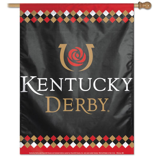"Kentucky Derby Vertical Flag - 28"" x 40"""