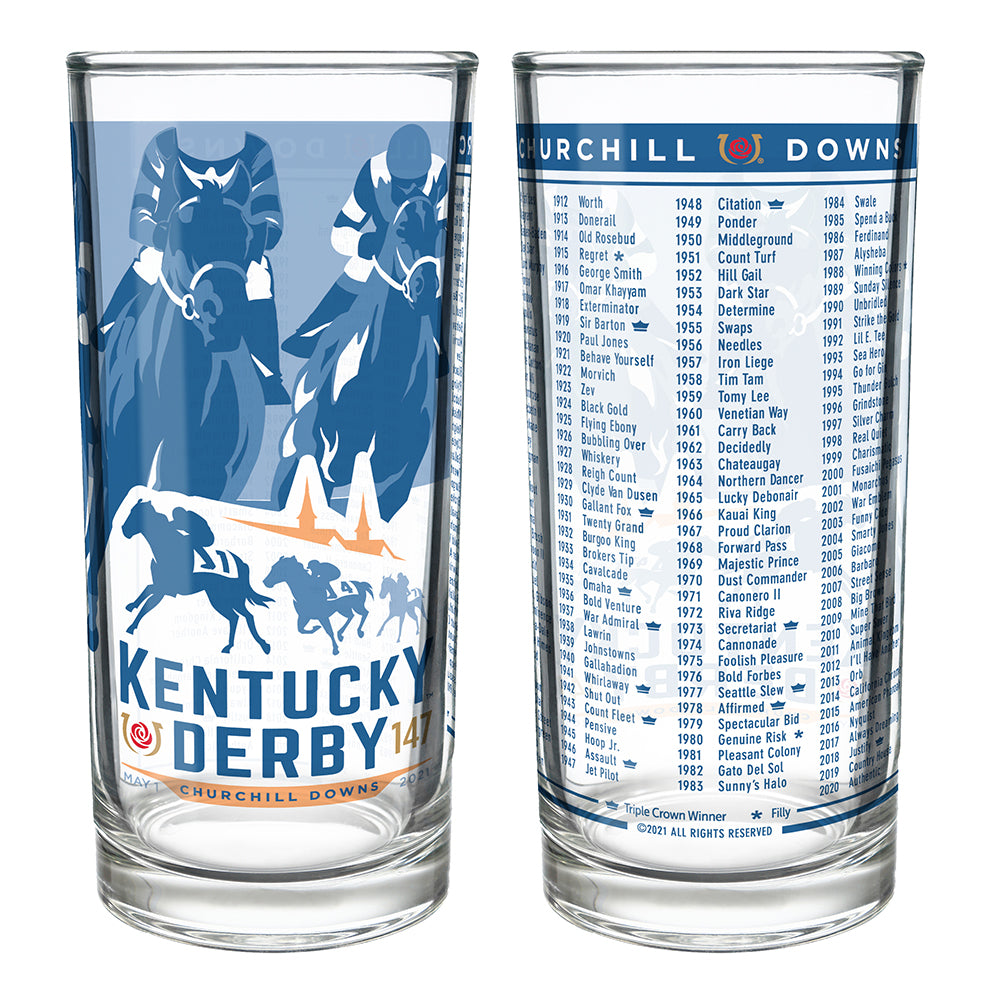 2021 Official 147th Kentucky Derby Mint Julep Glass — Horse and Hound  Gallery