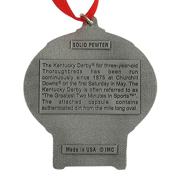 Kentucky Derby Track Dirt Ornament