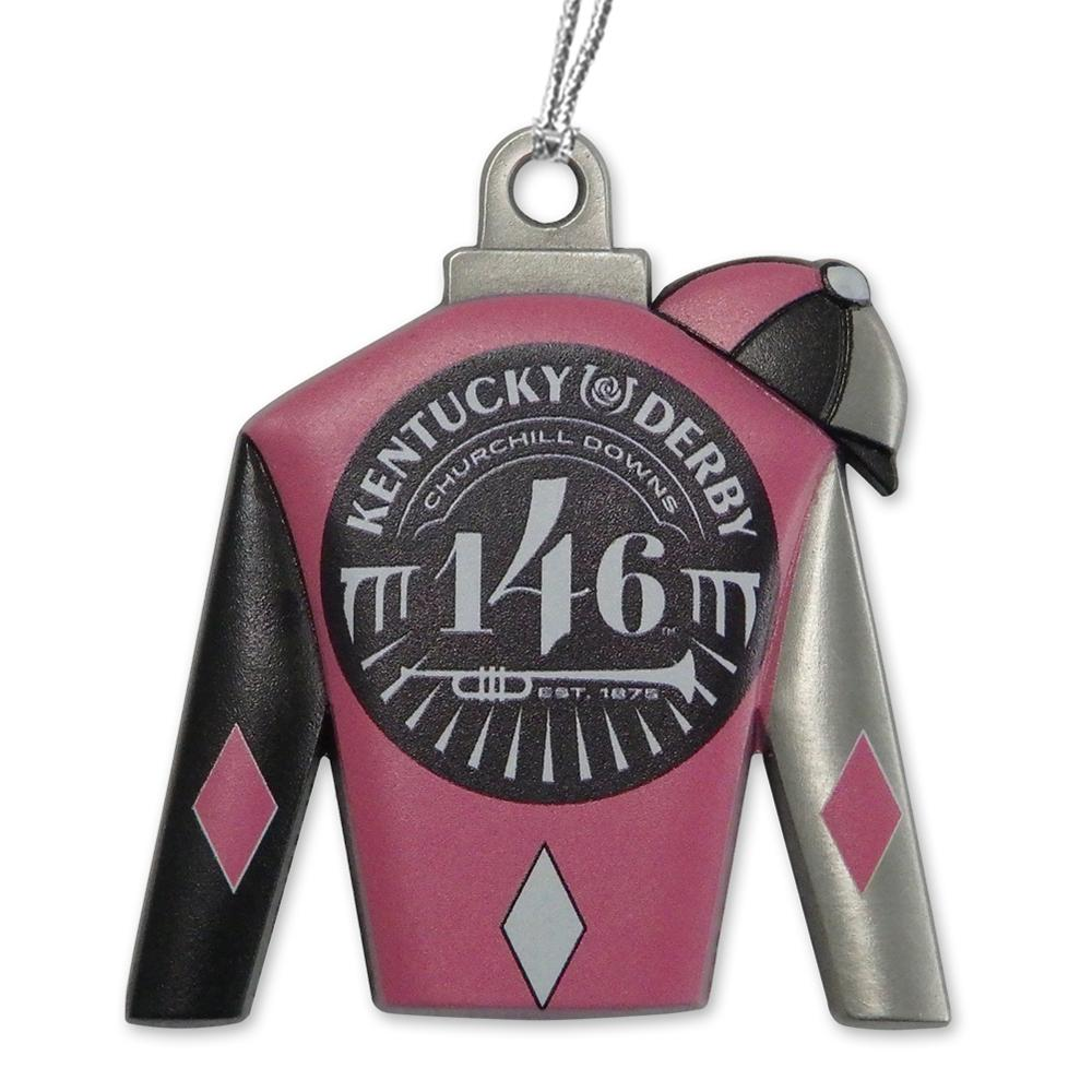 146th Kentucky Derby Silks Ornament - Pink