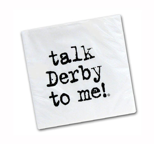 Talk Derby to Me! Paper Beverage Napkins - Pkg/25