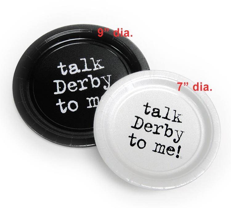 "Talk Derby to Me! Paper Plates 9"" Black / Pkg/8"
