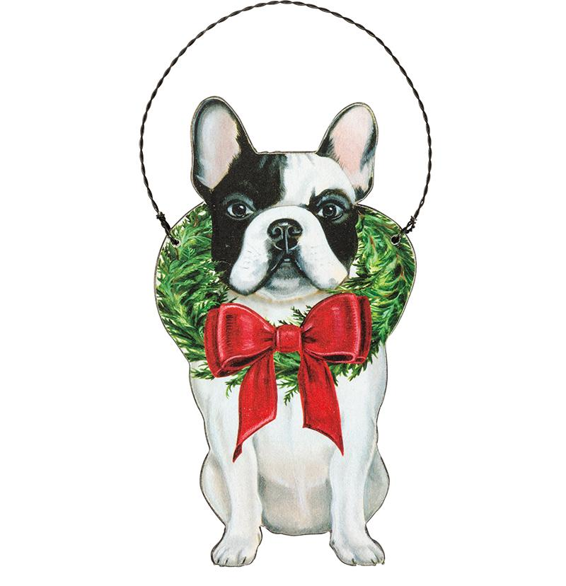 Christmas Frenchie Christmas Ornament