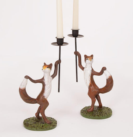 Dancing Foxes Candle Sticks (pair)