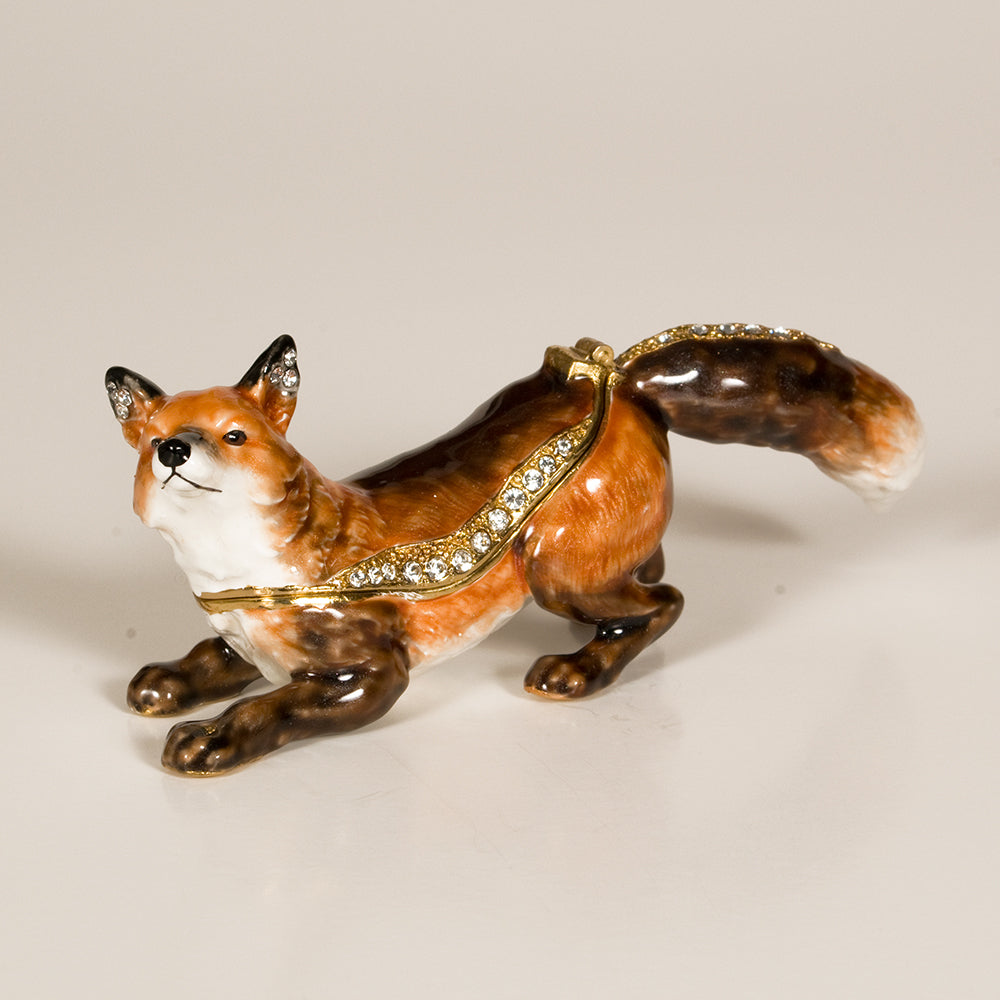 Stalking Fox Treasure Box