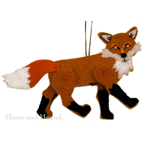 Jaunty Red Fox Wool Ornament