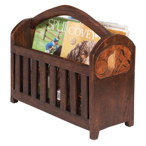 Fox Wood Magazine Rack