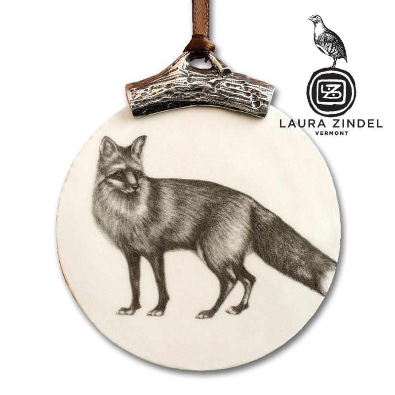 Fox Ornament by Laura Zindel