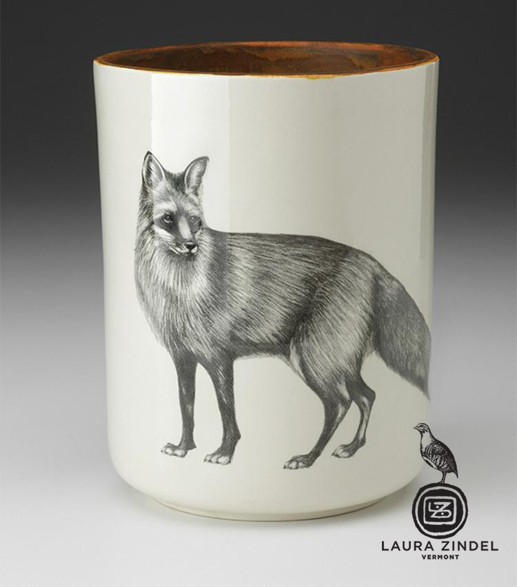 Standing Fox Utensil Jar by Laura Zindel