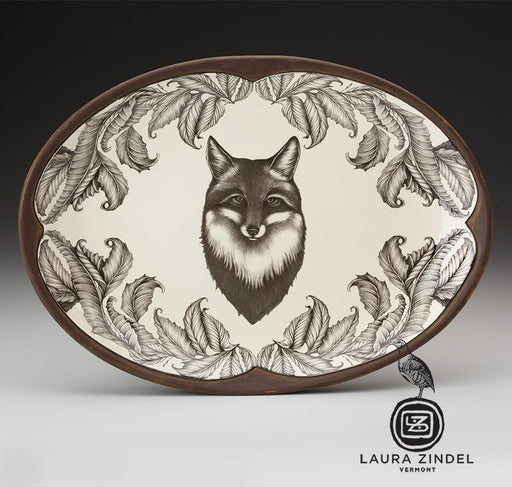 Fox Portrait Oval Serving Platter by Laura Zindel