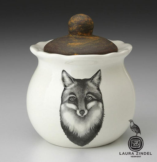 Fox Portrait Sugar Bowl by Laura Zindel