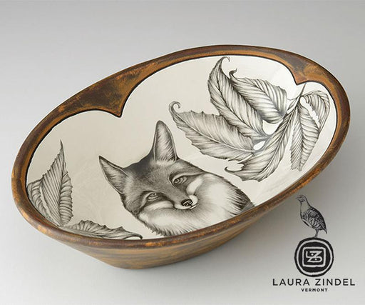 Fox Portrait Oval Serving Dish by Laura Zindel