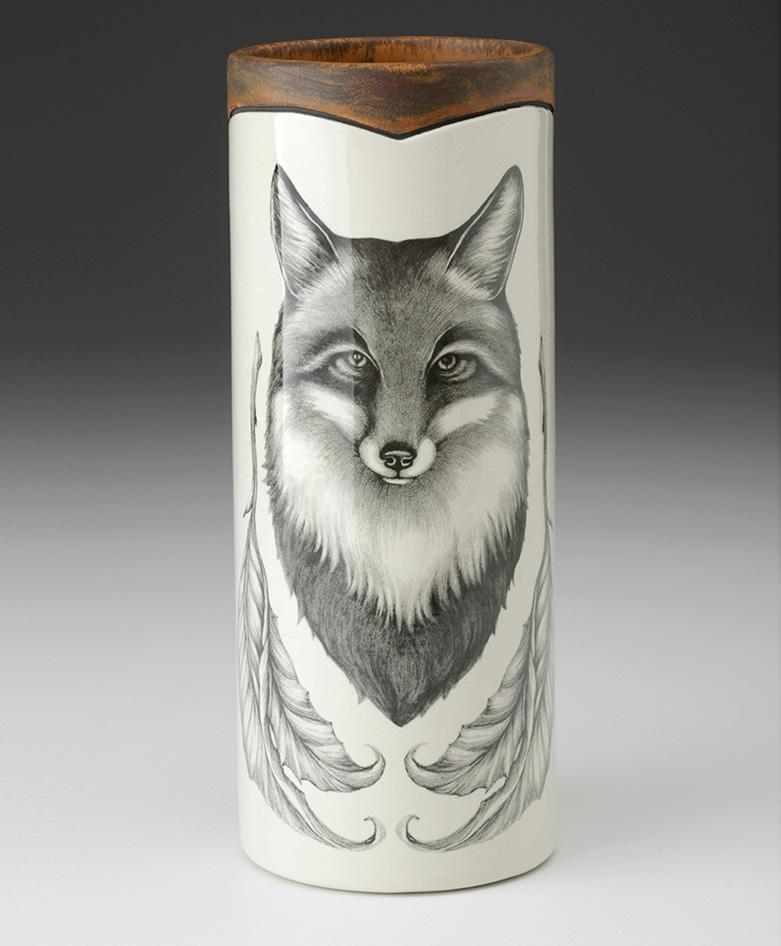 Fox Portrait Small Vase by Laura Zindel