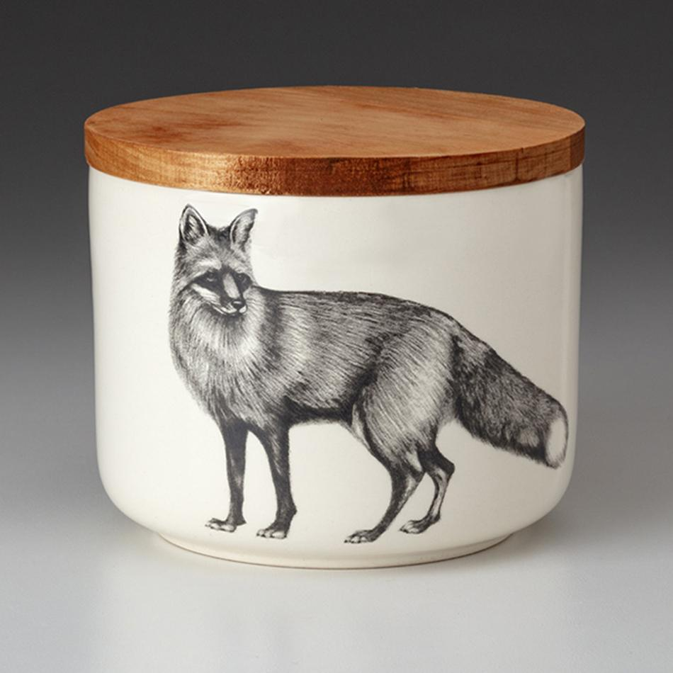 Standing Fox Small Canister by Laura Zindel