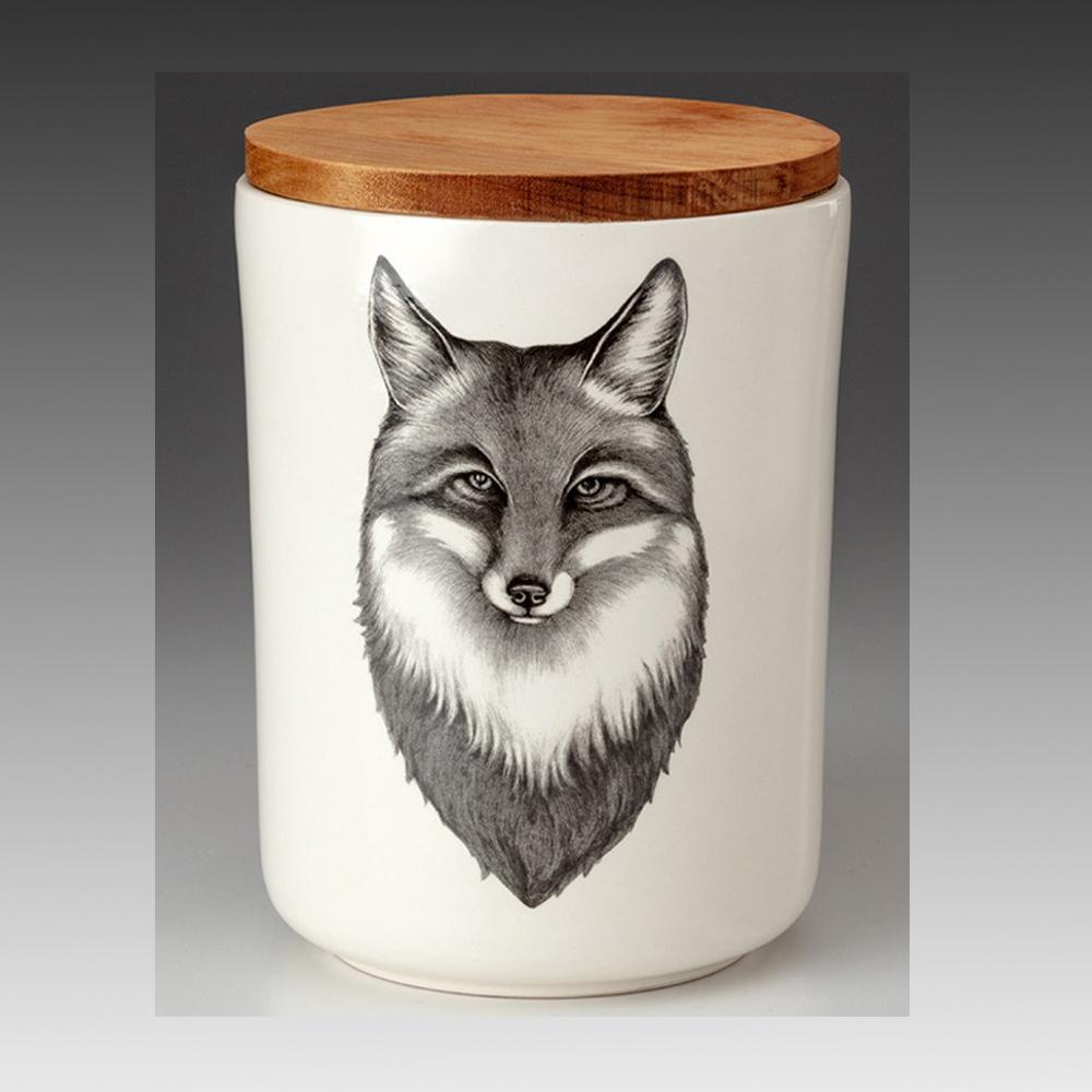Fox Portrait Medium Canister by Laura Zindel