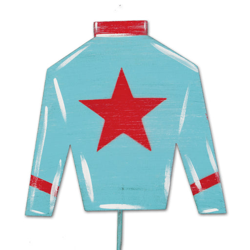 Jockey Silks Garden Stake - Red Star