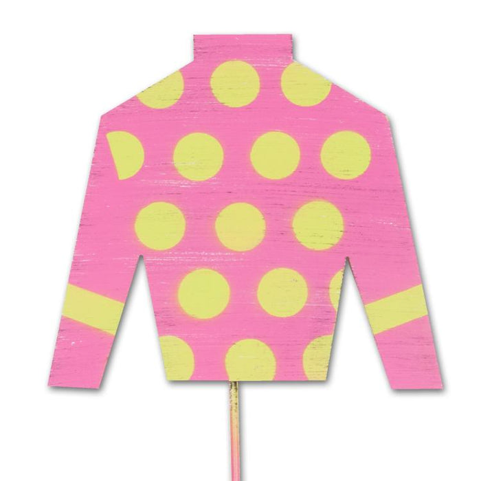 Jockey Silks Pink Garden Stake - Party Decoration