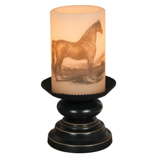 Vintage Horse Candle Lamp