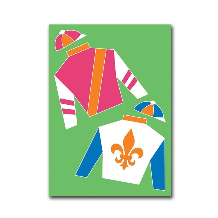 Racing Silks Party Flag - Small