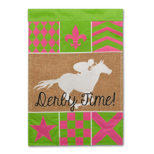 Derby Time Silks Flag - Small