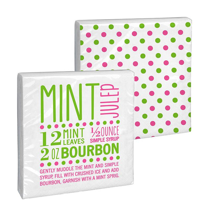 Mint Julep Recipe Paper Beverage Napkins