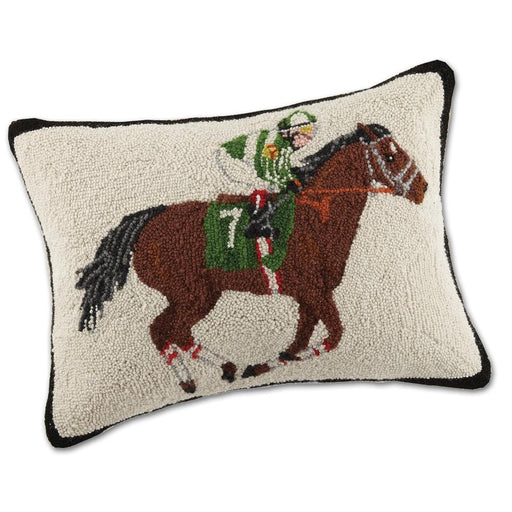 Lucky 7 Racehorse Hooked Pillow