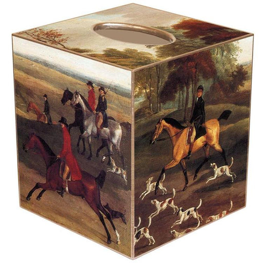 Foxhunt Tissue Box Cover