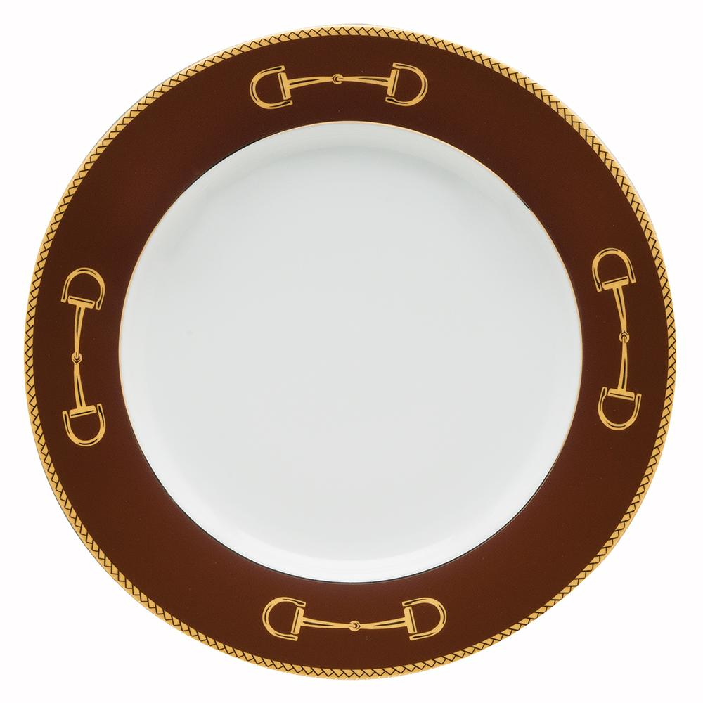 "Cheval Chestnut Brown Charger 12"" - Julie Wear Equestrian Tableware"