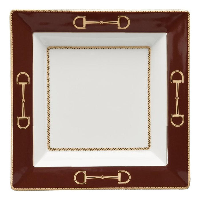 Cheval Chestnut Brown Presentation Tray - Julie Wear Equestrian Tableware