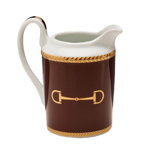 Cheval Chestnut Brown Creamer - Julie Wear Equestrian Tableware