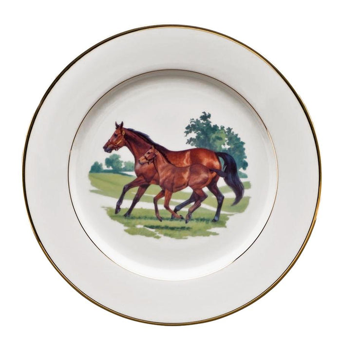 "Bluegrass Dinner Plate 10 5/8"" - Julie Wear Equestrian Tableware"