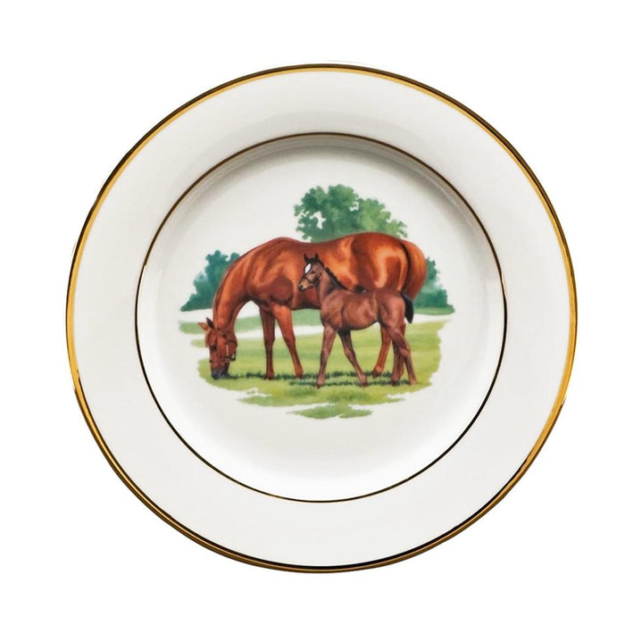 "Bluegrass Salad Plate 8"" - Julie Wear Equestrian Tableware"
