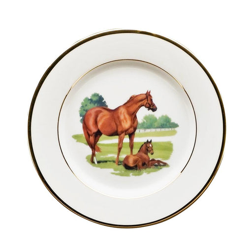 "Bluegrass Bread Plate 6.5"" - Julie Wear Equestrian Tableware"