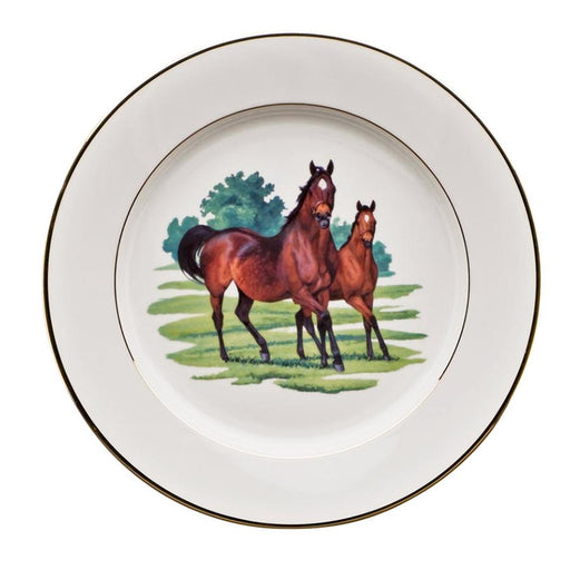 "Bluegrass Charger 12"" - Julie Wear Equestrian Tableware"