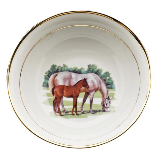 Bluegrass Serve Bowl - Julie Wear Equestrian Tableware
