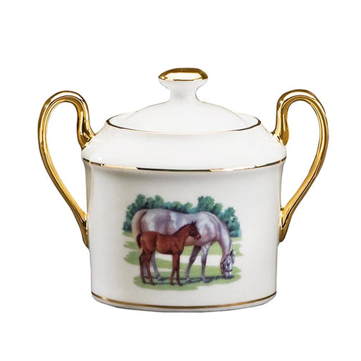 Bluegrass Sugar Bowl - Julie Wear Equestrian Tableware