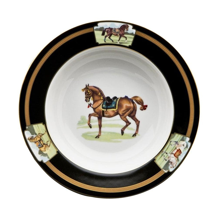 "Imperial Horse Rim Soup Bowl 9"" - Julie Wear Tableware"