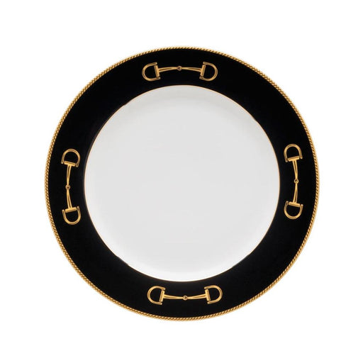 "Cheval Black Salad Plate 8"" Julie Wear Equestrian Tableware"