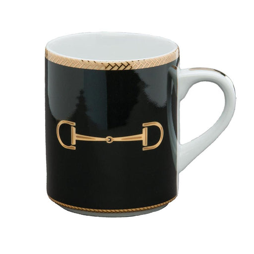 Cheval Black Mug - Julie Wear Equestrian Tableware