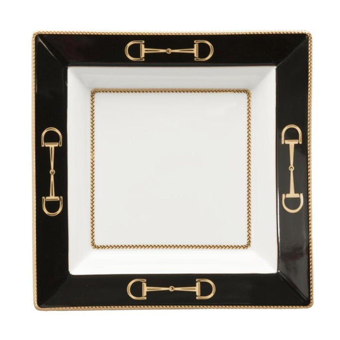 Cheval Black Presentation Tray - Julie Wear Equestrian Tableware