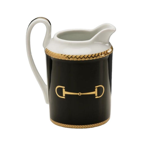 Cheval Black Creamer - Julie Wear Equestrian Tableware