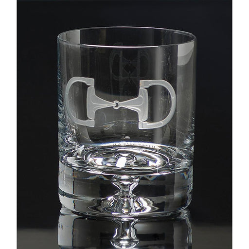 Cheval Etched Crystal Equestrian Rock Glasses (set of 4)