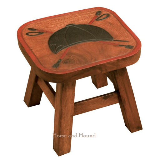 Cap & Crop Wood Foot Stool