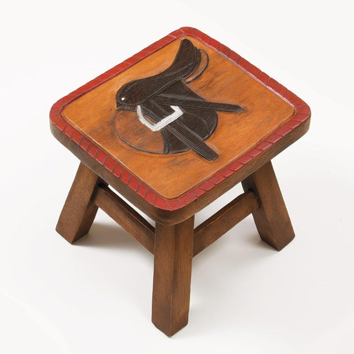 Hunt Saddle Wood Foot Stool