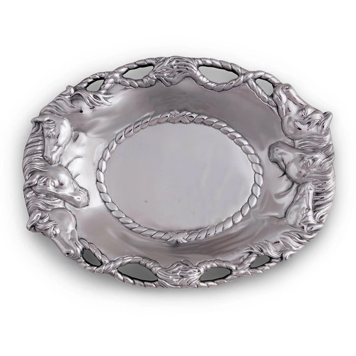 Arthur Court Horse Oval Tray