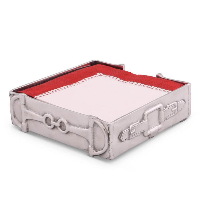 Arthur Court Equestrian Luncheon Napkin Box
