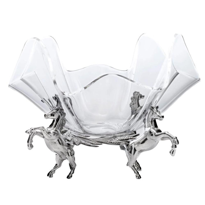 Arthur Court Horse Stand with Acrylic Bowl - 11""