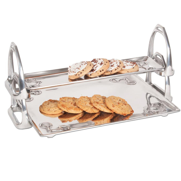 Arthur Court Equestrian Stirrup Stackable Tray - Large
