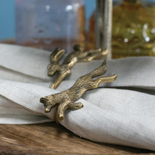 Fox and Hare Napkin Rings
